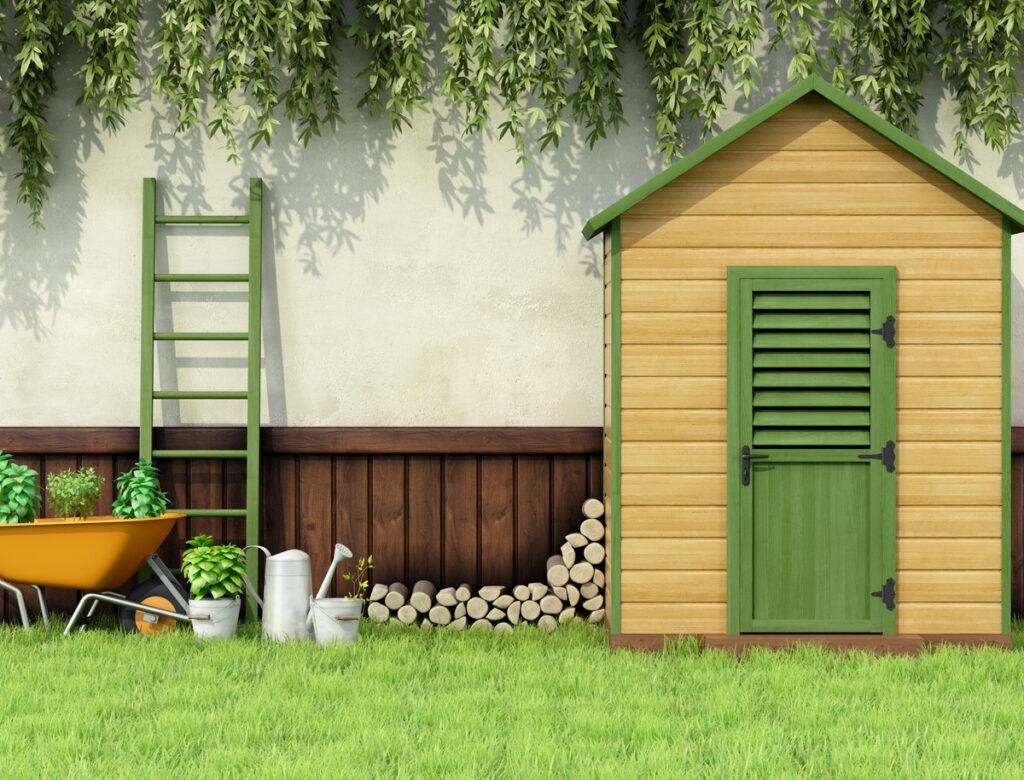 Klein tuinhuisje